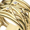 Spider Web 18K Gold Flat Ring